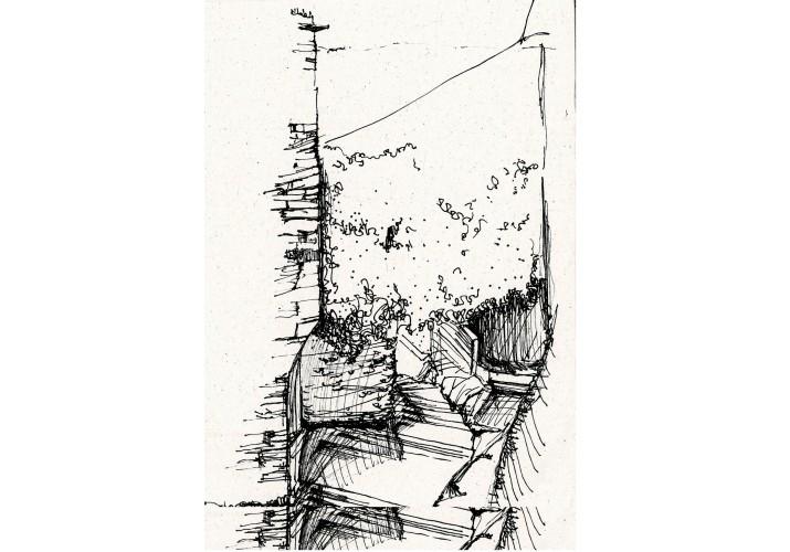 Άποψη πορείας με σκαλοπάτια