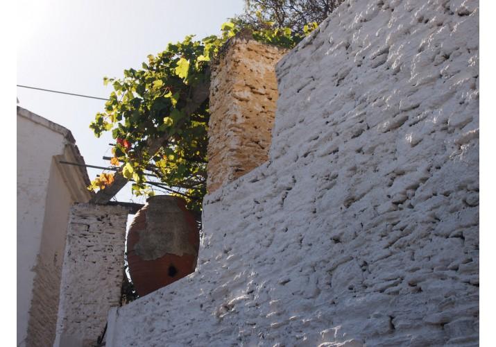 Άποψη ασβεστωμένης τοιχοποιίας